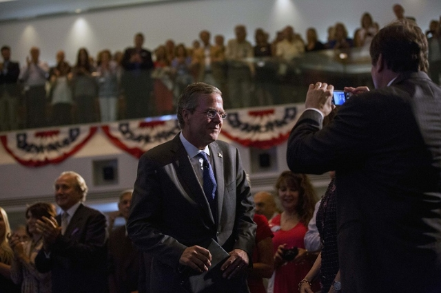 Republican presidential candidate Jeb Bush arrives at a Reagan Forum at Ronald Reagan Presidential Library in Simi Valley, California August 11, 2015. (Reuters/Mario Anzuoni)