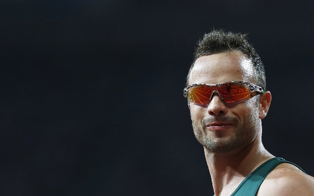 South Africa's Oscar Pistorius arrives for the start of the men's 400m T44 final in the Olympic Stadium at the London 2012 Paralympic Games in this September 8, 2012 file photo. Pistor ...