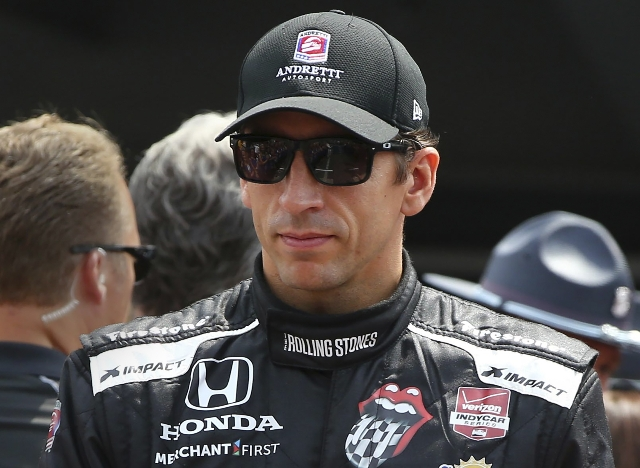 IndyCar Series driver driver Justin Wilson, seen earlier this year at Indianapolis, died on Monday after suffering a severe head injury during a wreck in the closing laps of a race on Sunday at Po ...