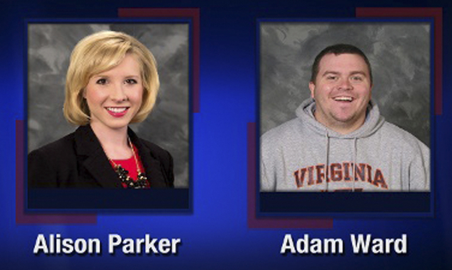 Alison Parker and Adam Ward are pictured in this handout photo from TV station WDBJ7 obtained by Reuters August 26, 2015. (WDBJ7/Reuters)