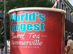 Drink up; the world's largest glass of ice tea is created in Summerville, South Carolina