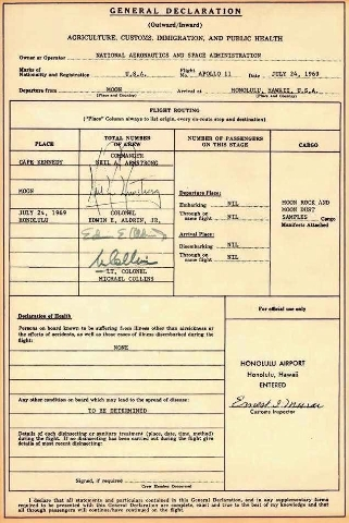 Apollo-era Astronaut Buzz Aldrin recently shared forms related to his 1969 trip to the moon. Aldrin, the second person to set foot on the moon, showed on Twitter that even in space travel, there&l ...