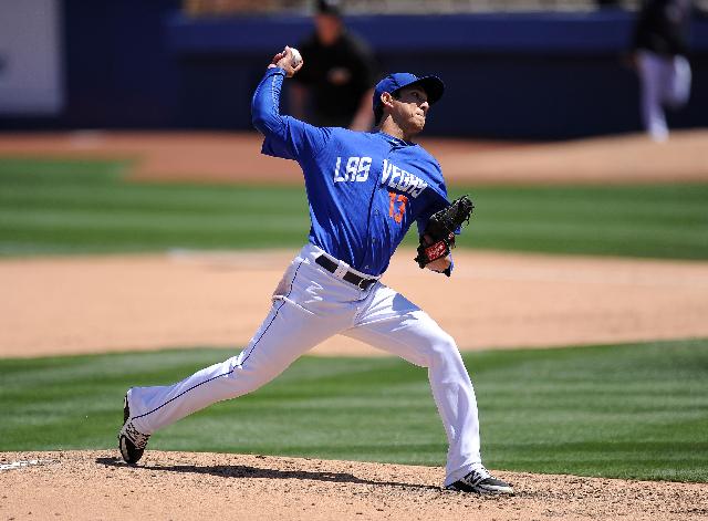 Las Vegas 51s starting pitcher Matthew Bowman. (Josh Holmberg/Las Vegas Review Journal)