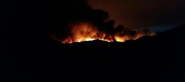 The Rocky Fire burned 54,000 acres in three counties as of Sunday night, Aug. 2, 2015. Firefighters reported it was only 5 percent contained and was feeding on the state's drought to grow. ( ...