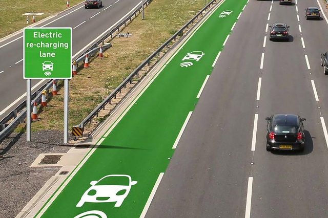 The British government is getting ready to test out new road technology that would allow electric cars to charge as they drive. The goal is to help drivers with electric and hybrid cars avoid freq ...