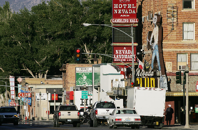 Historic downtown Ely, Nevada, to include Hotel Nevada is shown on Wednesday, Aug. 12, 2009. (JASON BEAN/LAS VEGAS REVIEW-JOURNAL)