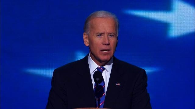 Vice President Joe Biden speaks at the Democratic National Convention in Charlotte, North Carolina on Thursday, September 6, 2012.