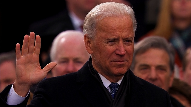 Joe Biden is sworn in for a second term as Vice President of the United States. Monday January 21, 2013