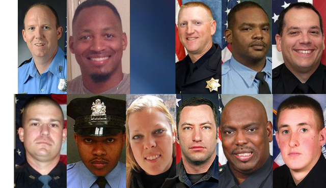 Here are officers who have died at the hands of violent suspects from January until now. (CNN)