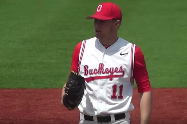 Ohio State University baseball player Zach Farmer. (Screengrab/OSU Buckeyes/YouTube)