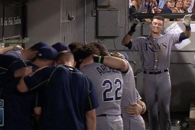 Tampa Bay Rays rookie Richie Shaffer. (Screengrab/MLB Video)