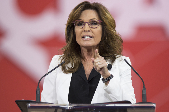 Former Republican Governor of Alaska Sarah Palin speaks at the 42nd annual Conservative Political Action Conference (CPAC) at National Harbor, Maryland February 26, 2015. (Joshua Roberts/Reuters)