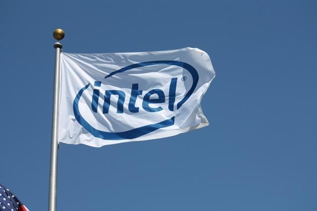 Intel flag (Jim Castel/CNN)