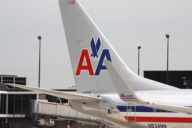 [FILE] An American Airlines jet sits on the tarmac at the Chicago O'Hare International Airport.