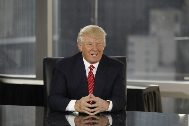 """Donald Trump appears on NBC's """"Celebrity Apprentice."""" The network announced it would monitor his candidacy for the Republican presidential nomination and reconsider his role on the ..."""