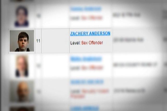Zach Anderson - Sex Offender list (CNN)