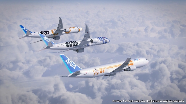 "In the latest corporate tie-in to build buzz for ""Star Wars: The Force Awakens,"" ANA, Japan's largest airline, announced Tuesday that two more planes will be decorated with charact ..."