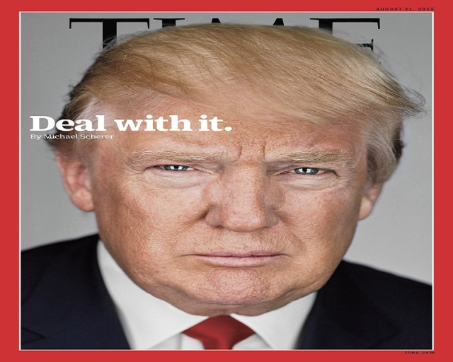 DonaldTrump on the cover of TIME magazine. (Martin Schoeller/TIME/CNN)