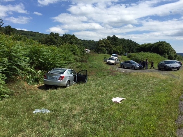 Virginia State Police provided this photograph of a Chevrolet Sonic along Interstate 66 in Northern Virginia that was driven by Vester Lee Flanagan on August 26, 2015. Flanagan shot and killed WDB ...