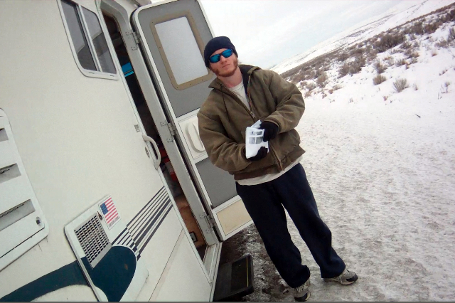 Straughn Gorman in this still image from a Nevada Highway Patrol video shot during a traffic stop on Interstate 80 between Wells and Elko in January 2013. A federal judge has ordered authorities t ...