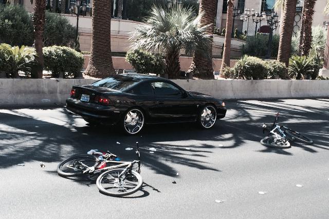 A bicyclist was hospitalized after a crash on the Las Vegas Strip near Spring Mountain Road on Monday morning, Aug. 3, 2015. (Bizuayehu Tesfaye/Las Vegas Review-Journal) Follow Bizu Tesfaye on Twi ...