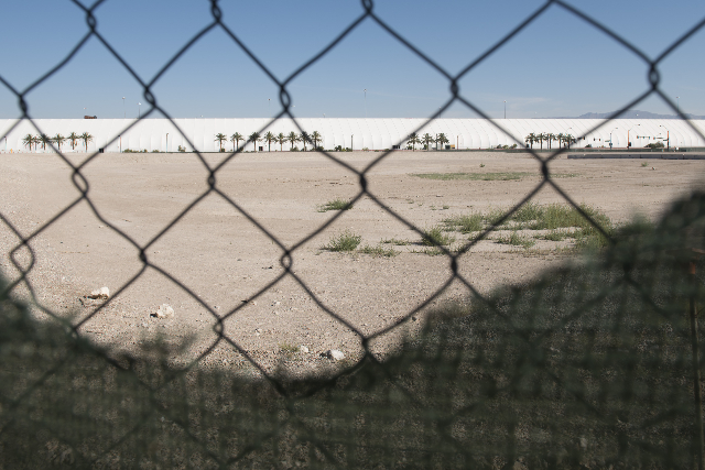 The empty lot at South Grand Central Parkway and West Symphony Park Avenue in Las Vegas on June 20, 2015.(Jason Ogulnik/Las Vegas Review-Journal)