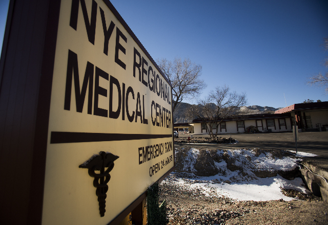 The Nye Regional Medical Center in Tonopah, seen in December 2013. *Jeff Scheid/Las Vegas Review-Journal)