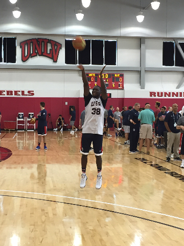 Orlando Magic guard Victor Oladipo shoots at Team USA's practice Wednesday at the Mendenhall Center (Chris Kudialis/Review-Journal)