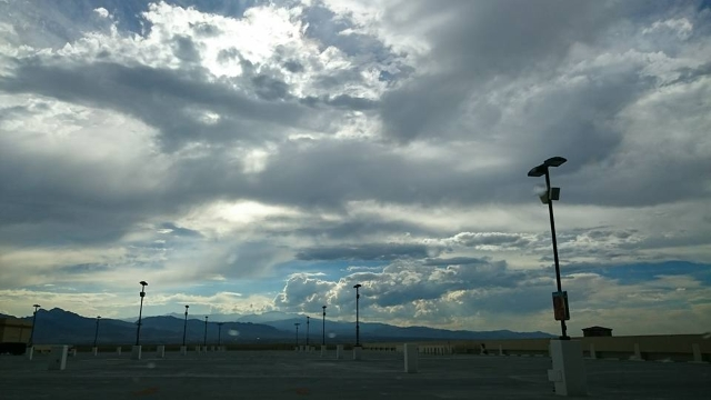 Friday's weather could be a repeat of Thursday's with thunderstorms expected in the Las Vegas Valley. (Abbey Schweitzer/Facebook)