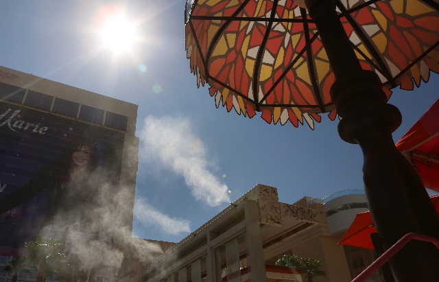 Las Vegas will see sunny skies and hot temperatures this weekend. (Las Vegas Review-Journal file)