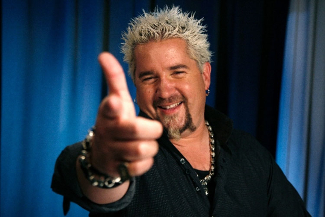 Chef Guy Fieri gave his son Hunter a tour Thursday of the University of Nevada, Las Vegas campus. (Courtesy)