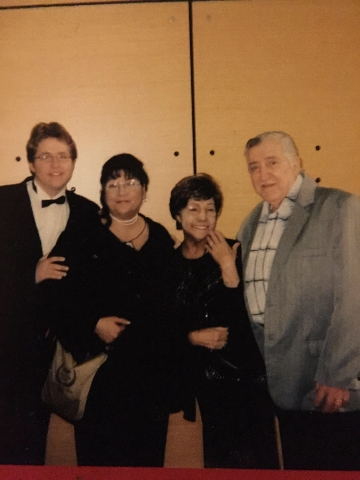 Karl Luebeck, Linda Luebeck, Mary Luebeck and Karl Luebeck pose for a picture after a 2012 performance with the Southern Nevada Musical Arts Society. (Courtesy)
