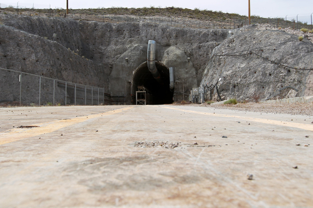The north portal of the Yucca Mountain exploratory tunnel is seen Thursday, April 9, 2015. (Sam Morris/Las Vegas Review-Journal)