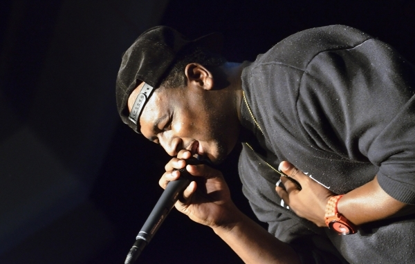 James Mays raps during His Hop, a youth program at Family Worship Christian Church at 3945 E. Patrick Lane in Las Vegas on Friday, Aug. 14, 2015. (Bill Hughes/Las Vegas Review-Journal)