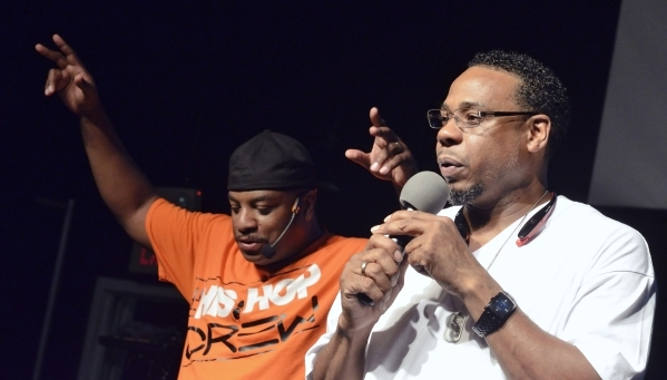 His Hop founder Sam Stewart, left, and Pastor Henry Black are shown during His Hop, a youth program at Family Worship Christian Church at 3945 E. Patrick Lane in Las Vegas on Friday, Aug. 14, 2015 ...