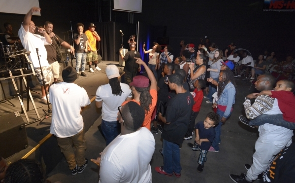 Unashamed to Put in Work performs during His Hop, a youth program at Family Worship Christian Church at 3945 E. Patrick Lane in Las Vegas on Friday, Aug. 14, 2015. (Bill Hughes/Las Vegas Review-Jo ...