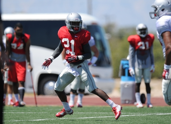 UNLV Rebels defensive back Darius Mouton, a freshman, has held down the No. 1 nickelback position for about a week. JOSH HOLMBERG/LAS VEGAS REVIEW-JOURNAL