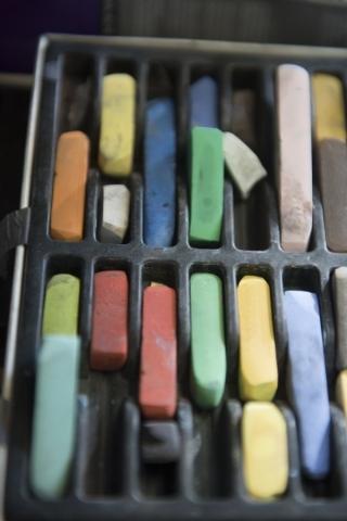 Pastels are shown at The King Art Studio in Henderson, Wednesday, Aug. 19, 2015. (Jason Ogulnik/Las Vegas Review-Journal)