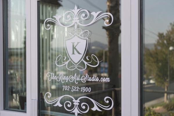 The front door of The King Art Studio is shown in Henderson, Wednesday, Aug. 19, 2015. (Jason Ogulnik/Las Vegas Review-Journal)