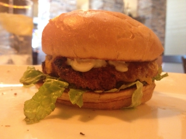 The fish sandwich is seen at FireRock Steakhouse, 5990 Centennial Center Blvd. It comes with crispy fried cod served on a toasted sub roll, with cheddar cheese, tartar sauce and a light coleslaw.  ...
