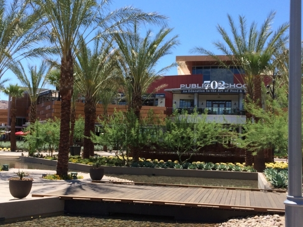 The dining arroyo is shown at Downtown Summerlin. (View file photo)