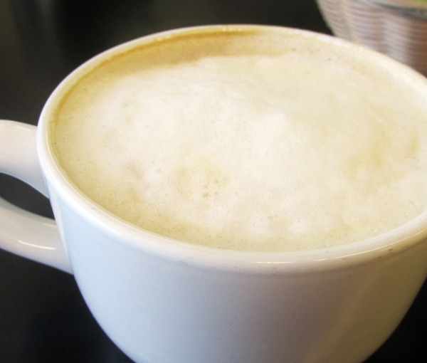 Coffee lovers have various choices of caffeinated beverages at The Coffee Press, including a latte. (Cassandra Keenan/View)