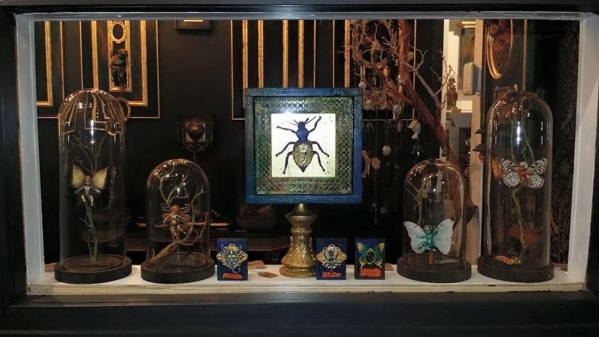 """17 Moons Art Studio in The Arts Factory, 107 E. Charleston Blvd., plans to show """"Angels and Insects,"""" assemblages by Michael Delacruz, during Sept. 4 First Friday. (Special to View)"""