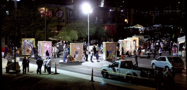 The First Friday arts festival is scheduled from 5 to 11 p.m. Sept. 4 at venues throughout the 18b Arts District in downtown Las Vegas. Live painting by Guerrilla Artz is planned. (Special to View)
