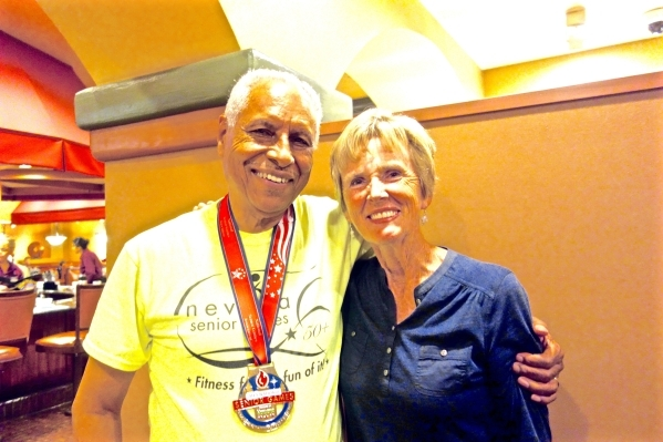 Jerry Lindsay and Nedra Paschal are two of the more than 1,000 local seniors 50 or older who participate in the Nevada Senior Games. (Diane Taylor/Special to View)