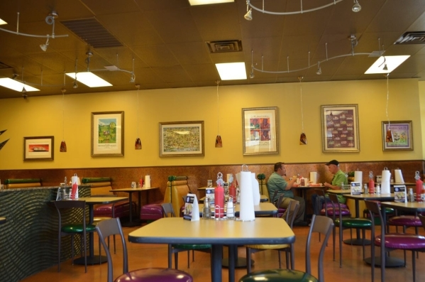 The dining room is spacious in the new Street Car Po-Boys, 5201 W. Charleston Blvd., Suite 110. (Ginger Meurer/Special to View)