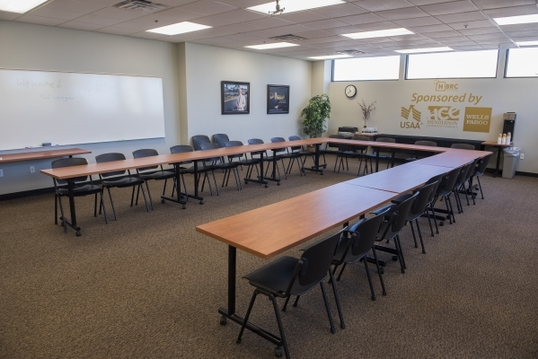 The shared conference room is seen at the Henderson Business Resource Center Friday, Aug. 28, 2015. The Center is a business incubator for small and start-up businesses. Martin S. Fuentes/Las Vega ...