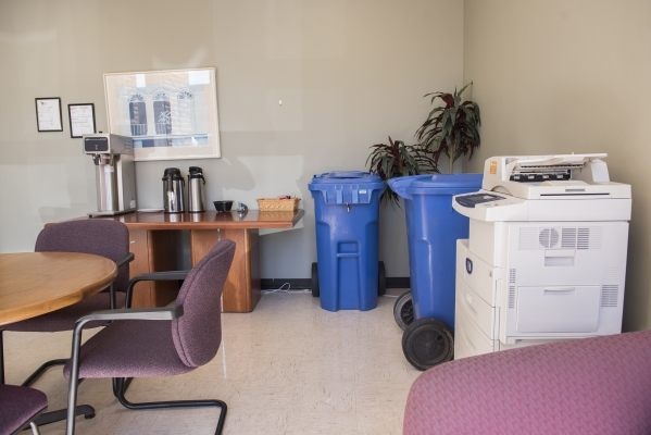 The shared break room/copy room is seen at the Henderson Business Resource Center Friday, Aug. 28, 2015. The Center is a business incubator for small and start-up businesses. Martin S. Fuentes/Las ...