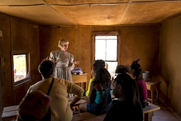 Judy Harrell talks during Pioneer Day at Spring Mountain Ranch State Park in Blue Diamond, Nev. on Saturday, Sept. 19, 2015. Joshua Dahl/Las Vegas Review-Journal