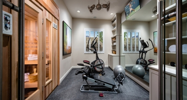 A small workout area is featured in the Messina model at Toll Brothers' Montecito neighborhood. COURTESY PHOTO